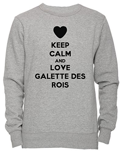 Keep Calm And Love Galette Des Rois Unisexe Homme Femme Sweat shirt Jersey Pull over Gris Toutes Les Tailles Mens Womens Jumper Sweatshirt Pullover Grey All Sizes 0 - lifestyle, galette-des-rois - Keep Calm And Love Galette Des Rois Unisexe Homme Femme Sweat-shirt Jersey Pull-over Gris Toutes Les Tailles Men's Women's Jumper Sweatshirt Pullover Grey All Sizes