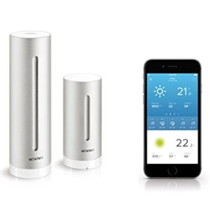 Netatmo Station Météo Intérieur Extérieur Connectée Wifi, Capteur Sans fil, Thermomètre, Hygromètre, Baromètre, Sonomètre, Qualité de l'air - Compatible Amazon Alexa et Apple Homekit, NWS01-EC 4