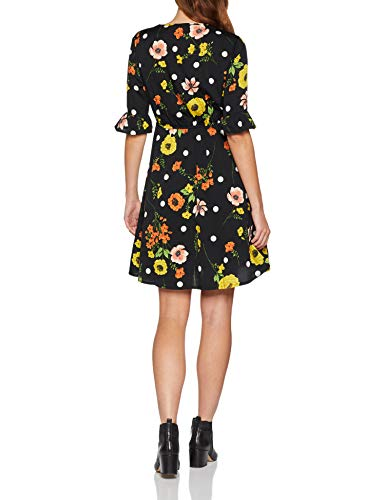 New Look Floral Flute Sleeve Robe Femme 0 0 - mode, passion - New Look Floral Flute Sleeve, Robe Femme