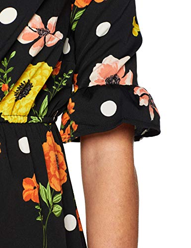 New Look Floral Flute Sleeve Robe Femme 0 1 - mode, passion - New Look Floral Flute Sleeve, Robe Femme