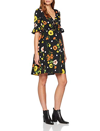 New Look Floral Flute Sleeve Robe Femme 0 - mode, passion - New Look Floral Flute Sleeve, Robe Femme