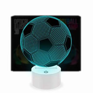 Optical Illusion 3D Lamp 7 Colour Changing Football 37
