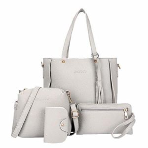Teaio Mode féminine en cuir Zipper Sac à main épaule solide Messenger Bag Purse Set Sacs portés main 66