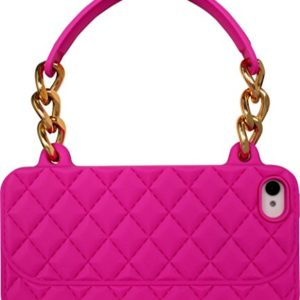 The Kase Paris Sac à Main matelassé en Silicone pour iPhone 4/4S Rose 10
