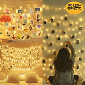 10M 100LED Guirlande Lumineuse Interieur Photo Chambre LED, Decoration Chambre, Porte Photo Mural, Guirlande Photo (50 Clips & 20 Clou) 48