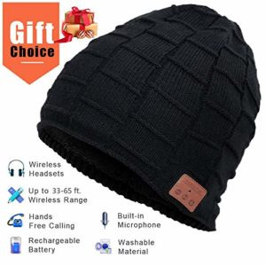 Bonnet Bluetooth Hommes et Femmes, Cadeaux de Noël, Mains Libres pour la Musique HD et Les appels, Mise à Niveau Bluetooth 5.0, Lavable Bluetooth Knit Bonnet Gifts (Fashion 1) 30