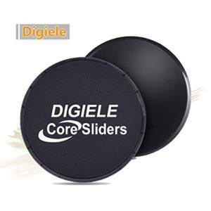 DigiELE Core Sliders - disques de Glisse à Double Face pour Tapis et planchers de Bois Franc, Gliding Discs équipement D'exercice for Yoga, Pilates, Crossfit, Gym, Home Abdominale Workout 94