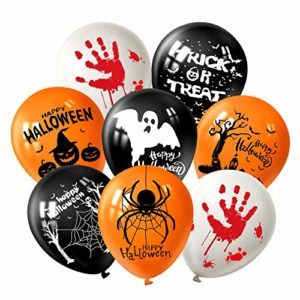 "FEPITO 12 ""Halloween Latex Ballons 36 Pcs Halloween Amusant Ballons De Décoration De Fête, 7 Halloween Modèle 8"