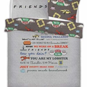 Friends The TV Series Parure de lit Double avec taies d'oreiller 4