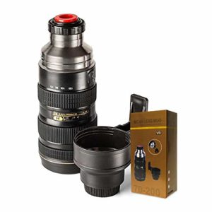 MikaMax -Thermos Flask Camera Lens - Porte-boissons chaudes - Grand - Noir 18