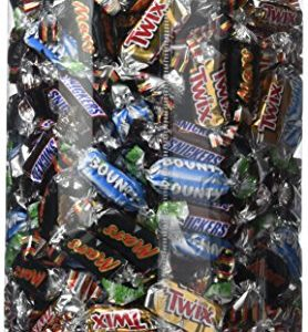 Miniatures Mix Mars Twix Snickers Bounty Tubo plastique 3kg 74