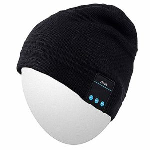 Qshell Trendy Warm Soft Knit Slouchy Music Beanie Skully Hat avec Casque stéréo sans Fil Mic Hands Free Rechargeable Battery for Fitness Sports de Plein air Ski Running Patinage Walking 29