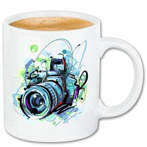 Reifen-Markt Tasse à café Cameras Digital Camera Photographie MODELE Retro Camera Cameras Digital Camera Photographe FOTOSTUDIO Underwater Camera SLR Céramique 330 ML en Blanc 21