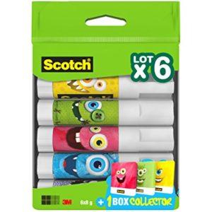 Scotch Bâtons de colle, Multicolore, Lot de 5 49