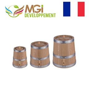 madeinfrance VINAIGRIER en Chene, GRAVÉ Made in France with Love, Haut DE Gamme Fait Main Made in France (3 litres) 5