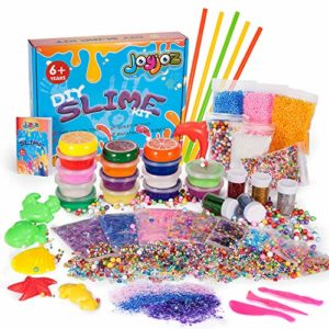 Joyjoz Kits de Slime Fournitures Slime Making Kit 15 des Boites Cristal Slime Clay Slime Accessories Slime Tools Jouet en Argile Anti-Stress Cadeau de Noël Slime DIY Craft(43 Packs) 16
