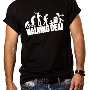Makaya Walking Dead T-Shirt Homme Zombie Evolution Noir S-XXXL 24