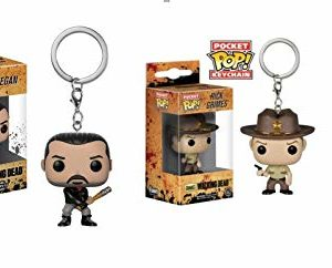 Funko 21189 The Walking Dead : Negan & Rick POP Lot de 2 porte-clés en forme de cône et de négan 7