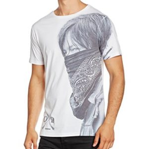 The Walking Dead Daryl Large Face Bandana M T-Shirt Homme 47