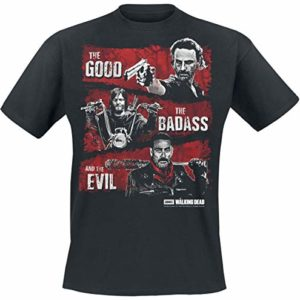 The Walking Dead Good, Badass, Evil T-Shirt Noir XL 41