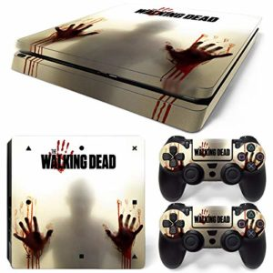 46 North Design PS4 Slim Vinyl Decal Autocollant Skin Sticker TWD Pour Playstation 4 console + 2 Dualshock Manette Set Autocollant 82