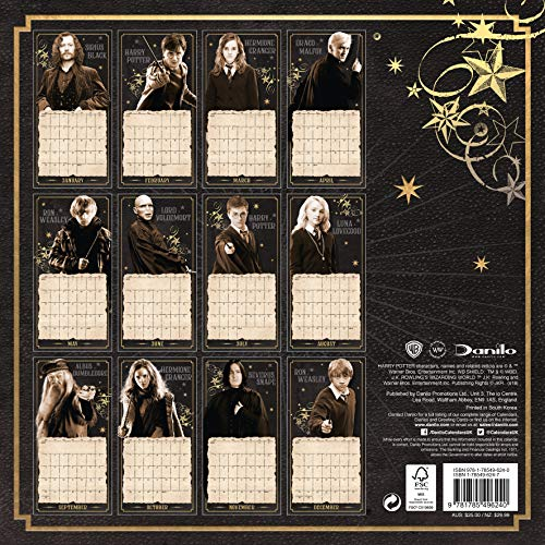 Harry Potter Official 2019 Calendar - Square Wall Calendar Format 3