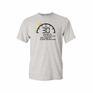 Mygoodprice T-Shirt col Rond Anniversaire 30 Ans Compteur 17