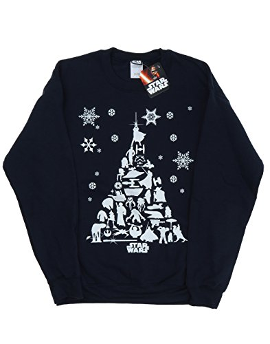 STAR WARS Homme Christmas Tree Sweat-Shirt 2
