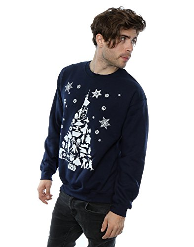 STAR WARS Homme Christmas Tree Sweat-Shirt 3