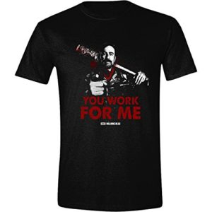 The Walking Dead You Work for Me Hommes T-Shirt - Noir 17