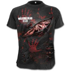 T-shirt zombie The Walking Dead, All infected, noir -  Noir - X-Large 79