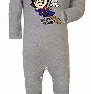 Uncanny Harry Sorcier Potter avec Hibou Superhero Drôle Costume Footies 100% Cotton 13