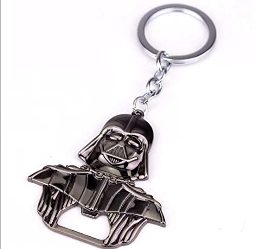 WOO LANDO Darth Vader Bottle Opener Key Ring Black Glossy Solid Finish 55 mm x 60 mm for The Home Bar on The Go Funny Gift for Star Wars Fans 2