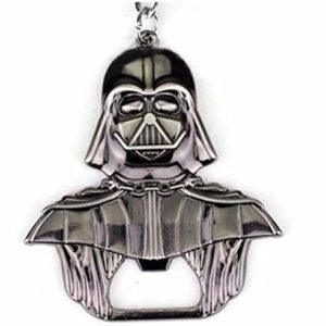 WOO LANDO Darth Vader Bottle Opener Key Ring Black Glossy Solid Finish 55 mm x 60 mm for The Home Bar on The Go Funny Gift for Star Wars Fans 66