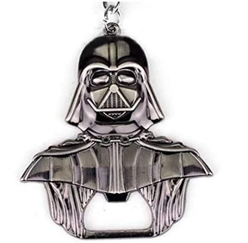 WOO LANDO Darth Vader Bottle Opener Key Ring Black Glossy Solid Finish 55 mm x 60 mm for The Home Bar on The Go Funny Gift for Star Wars Fans 1