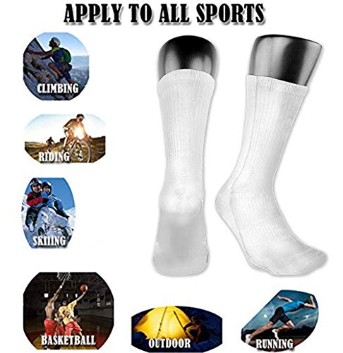 hdyefe Breathable Nutella Cotton Athletic Exotic Psychedelic Print Calf Socks Soccer Socks Sport High Stockings Below Knee Stockings Sports Compression Elastic Socks Men Women 2