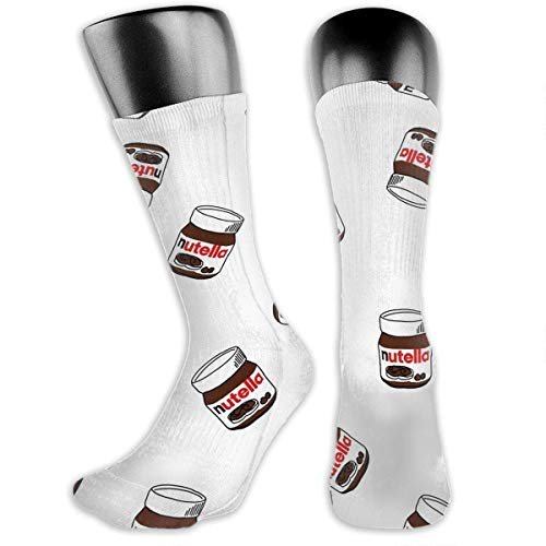 hdyefe Breathable Nutella Cotton Athletic Exotic Psychedelic Print Calf Socks Soccer Socks Sport High Stockings Below Knee Stockings Sports Compression Elastic Socks Men Women 3