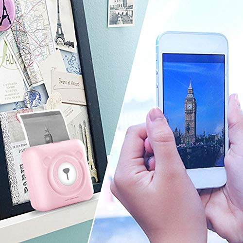 leegoal Mini Imprimante Photo, Imprimante Photo Portable Thermique étiquette Autocollant Ticket d'impression Compatible avec Les appareils iOS Android système Windows pour Peinture Enfant 1