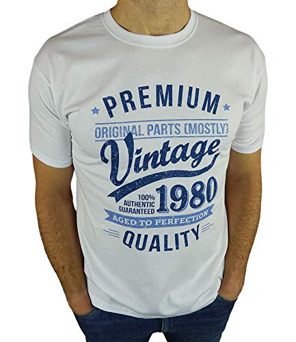 1980 Vintage Year - Aged to Perfection - 40 Ans Anniversaire Homme Cadeaux T-Shirt 2