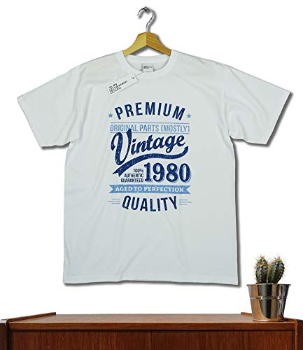 1980 Vintage Year - Aged to Perfection - 40 Ans Anniversaire Homme Cadeaux T-Shirt 3