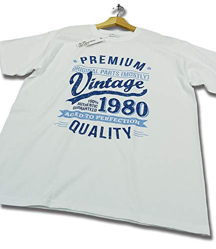 1980 Vintage Year - Aged to Perfection - 40 Ans Anniversaire Homme Cadeaux T-Shirt 4