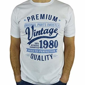 1980 Vintage Year - Aged to Perfection - 40 Ans Anniversaire Homme Cadeaux T-Shirt 6
