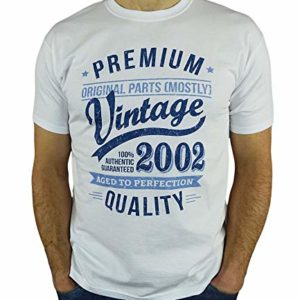 2002 Vintage Year - Aged to Perfection - 18 Ans Anniversaire Homme Cadeaux T-Shirt 46