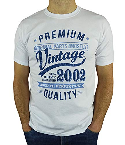 2002 Vintage Year - Aged to Perfection - 18 Ans Anniversaire Homme Cadeaux T-Shirt 1