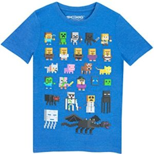 Minecraft Sprites Boys White T-Shirt 19