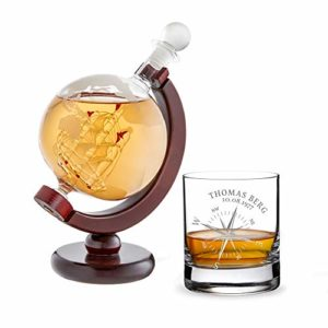 AMAVEL Whiskyglas Kompass und Whiskykaraffe Kompass Set 13