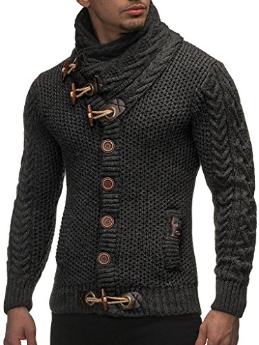 Leif Nelson Gilet Tricot col Large - Homme LN4195 3