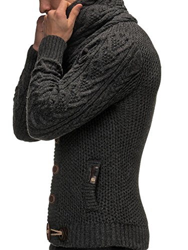 Leif Nelson Gilet Tricot col Large - Homme LN4195 4