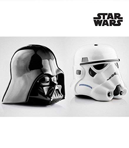 Star Wars Rogue One Star Wars: Dark Vador et Storm Trooper, Poivrier et Saliere, Céramique, Noir, 14 x 9,5 x 13,3 cm 2
