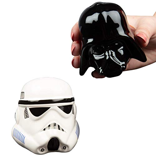 Star Wars Rogue One Star Wars: Dark Vador et Storm Trooper, Poivrier et Saliere, Céramique, Noir, 14 x 9,5 x 13,3 cm 3